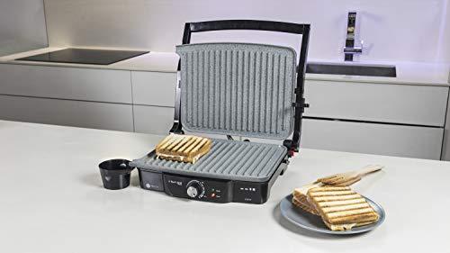 Cecotec-Grille-viande-Electrique-RocknGrill-2000-Revetement-Antiadherent-RockStone-Ouverture-180o-Adaptable-en-Hauteur-Surface-30-x-235-cm-Poignee-Tact-Froid-Inclus-Ramasse-graisse-2000-W