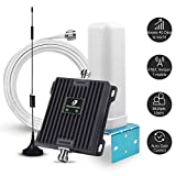 Cell Phone Signal Booster Antenna for Home and Office - 65dB Dual Band 700MHz Band 13/12/17 Cellular Signal Repeater - Boost 4G LTE Data for AT&T, Verizon and T-Mobile