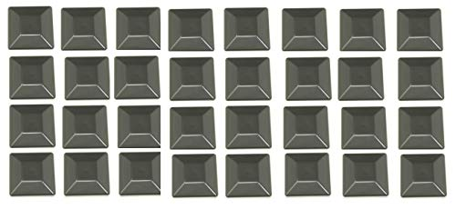 Plastic New Fence Post Black Caps 4X4 (3 5/8') Pressure Treated Wood Made in USA (32 Pack)