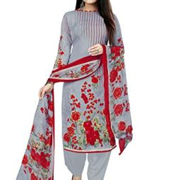 Rajnandini Women's Cotton Floral Printed Unstitched Salwar Suit Material(Free Size)