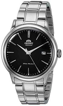 """""""Orient Men's """" Bambino Version 5"""" Japanese Automatic / Hand-Winding Stainless Steel Bracelet Dial Color: Black Model #: RA-AC0006B10A"""""""