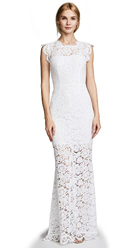 71hf34wq1qL Lace overlay evening dress featuring open back cutout with lace cutwork and illusion neckline Short skirt lining with long lace overlay Front cutwork slit
