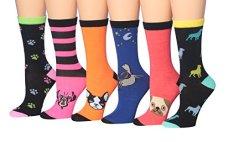Tipi-Toe-Womens-6-Pairs-Value-Pack-Dog-Novelty-Animal-Design-Socks-WC54-B
