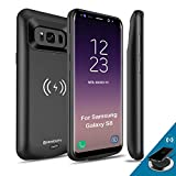 [Upgraded] Samsung Galaxy S8 Battery Case Qi Wireless Charging Compatible, Newdery 5000mAh Slim Rechargeable Extended Charger Case Compatible Samsung Galaxy S8 (2017)-(5.8' Black)
