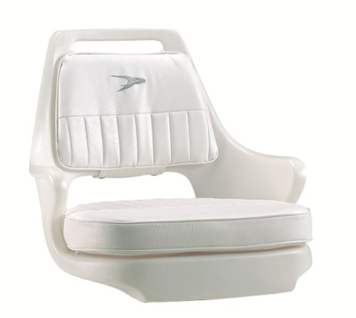 Wise 8WD015-3-710 Standard Pilot Chair with Cushions and Mounting Plate, White