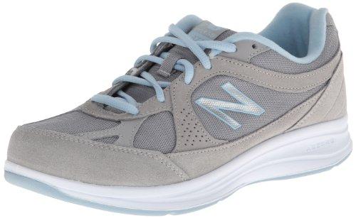 New Balance Women's WW877 Walking Shoe, Silver, 9 B US