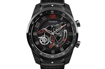 Mobvoi Ticwatch SmartWatch- Black (2-Days Battery Life_Compatible with iOS and Android)