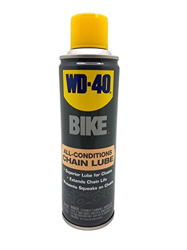 WD-40 BIKE All Conditions Chain Lube - Wax-Free Bicycle Chain Lubricant for Wet or Dry Conditions. 6 oz. (Pack of 1)