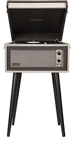 Crosley CR6233A-BK Dansette Bermuda Portable Turntable with Aux-In, Black