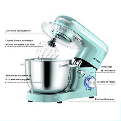 Aucma-Robot-Patissier-Multifonctions62-L-Robot-CuisineRobot-Mixeur-Patisserie-Robot-avec-Fouet-a-Fils-BatteurCrochet-a-Petrin6-Vitesses-Batteur-Electrique-avec-Fonction-Pulse1400WBleu