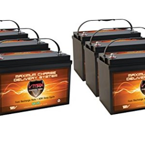 VMAXSLR125-6 QTY 6 Vmaxtanks AGM 125ah EA 750AH TOTAL Solar Wind Power Backup AGM 12V VMAX solar Battery