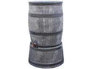 Regentonne anthrazit Roto 120 Liter holzoptik (Inkl. Deckel, Hahn und Aufsetzfuß) [Regentonnen, Regenwassertonne, Wassertank, Regentank] von 'S'lon