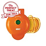 Dash DMWP001OR Mini Waffle Maker Machine for Pumpkin Shaped Individual Waffles, Paninis, Hash browns, & other on the go Breakfast, Lunch, or Snacks - Orange