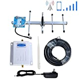 Phonelex Cell Phone Signal Booster Verizon 4G LTE Band13 700Mhz Mobile Phone Signal Booster Verizon Cell Phone Signal Amplifier Repeater with Indoor Whip/Outdoor Yagi Antenna for Home Use
