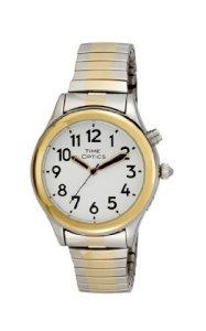 TimeOptics Women's Talking Two-Tone Day Date Alarm Expansion Bracelet Watch # GWC07TT