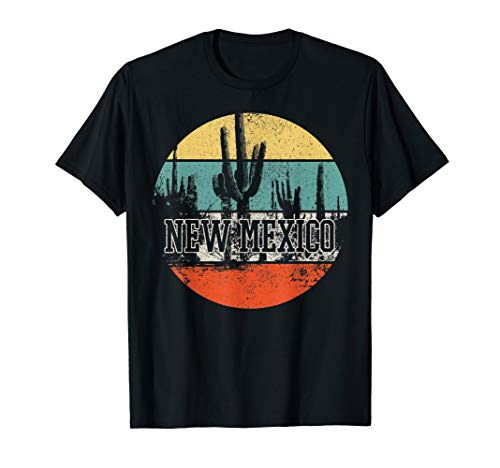 New Mexico USA Cactus Desert Vintage Retro 4th Of July Gift T-Shirt