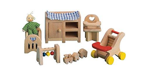 Small World Toys Ryan's Room Wooden Doll House -Night, Night Sleep Tight Nursery Room