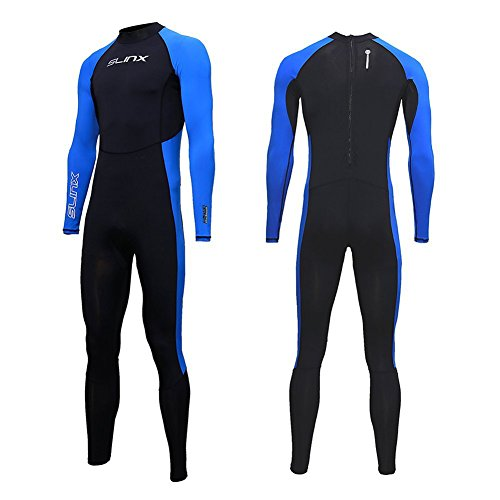 Full Body Dive Wetsuit Sports Skins Lycra Rash Guard for Men Women, UV Protection Long Sleeve One Piece Swimwear for Snorkeling Surfing Scuba Diving Swimming Kayaking Sailing Canoeing (XXL)