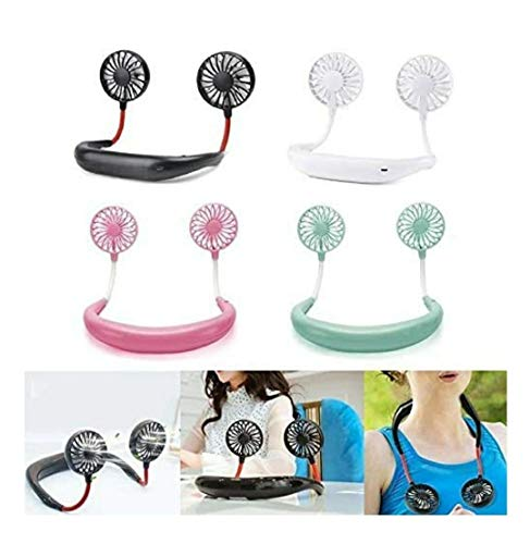 Qualimate-Portable-Hanging-Neck-Fan-USB-Gadgets-Rechargeable-Wearable-Neckband-Face-Fan-for-Kitchen-Cooking-Strong-Airflow-Quiet-Operation-3-Blades-Assorted-Color