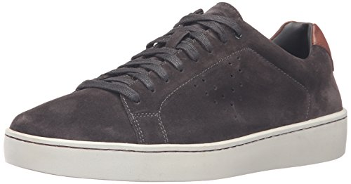 41StYXbLS0L Minimalist fashion sneaker with suede upper featuring tonal stitching, side perforations, and lace front with blind eyelets Double-padded footbed
