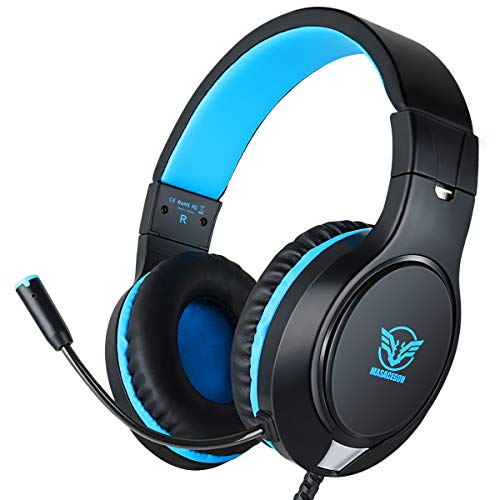 Gaming Headset, Professional3.5MMBass Sound Game Headset for Xbox One/S, PS4, PC, iPad, Computer Headphone with Noise Canceling Microphone, Adjustable Volume Gaming Earphone