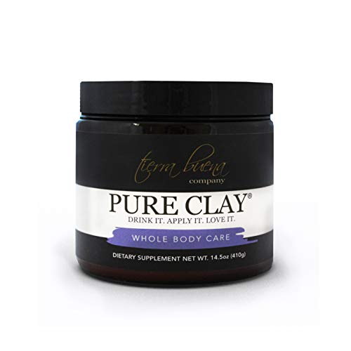 Pure Clay – Premium Calcium Bentonite Clay Food Grade (Montmorillonite) Powder - Supplement Quality - Laboratory Tested for Purity - Internal Detox and Cleanse - Mask, Body Wrap and Bath