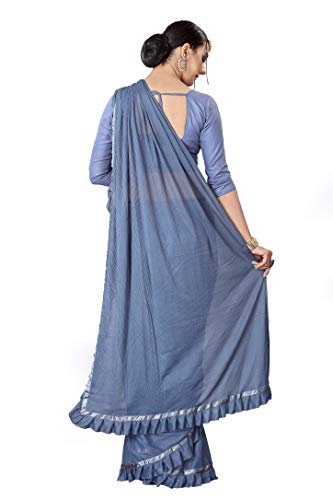 Meet Fashion Beautiful Lycra Woven Saree with Unstitched Blouse Piece For Women's TODAY OFFER ON AMAZON