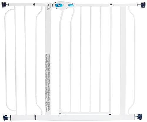 Regalo Easy Step 38.5-Inch Extra Wide Walk Thru Baby Gate, Includes 6-Inch Extension Kit, 4 Pack Pressure Mount Kit, 4 Pack Wall Cups and Mounting Kit