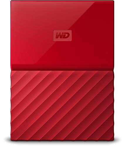 Western Digital My Passport 2TB Portable External Hard Drive (Red) with Automatic Backup and Hardware Encryption & Password Protection 33