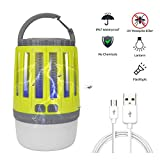 lixada Electric Bug Zapper LED Camping Lantern Flashlight 3-in-1 Waterproof USB Rechargeable Portable Compact Anti-Mosquito Lamp for Outdoors Emergency Camping Gear