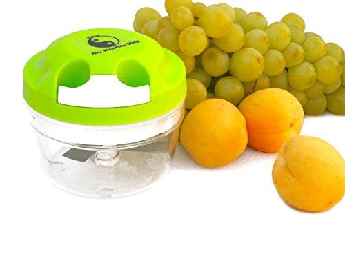 My Healthy Way-mini Food Chopper-Green-Manual Operation-Food Processor-Portion Control -PBA Free