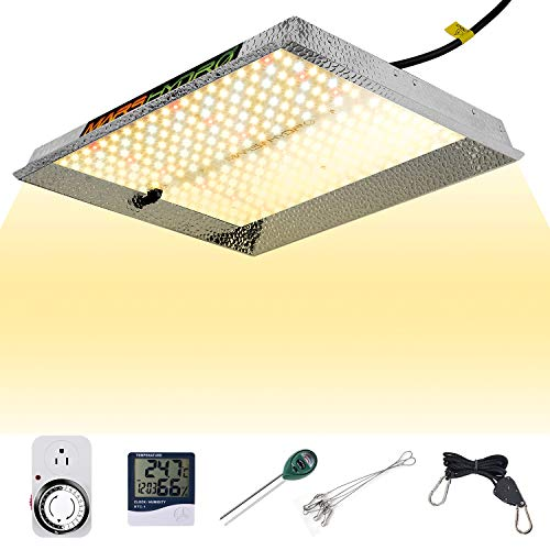 MARS HYDRO TS 1000W Led Grow Light SunLike Full Spectrum Grow Bulb for Indoor Plants Veg Bloom with Updated LEDs White Hydroponic Growing Lamps with Dimmer Thermometer Hygrometer Timer PH Meter Hanger