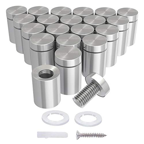 LuckIn-20-Pack-12-x-34-Inch-Stainless-Steel-Standoff-Screws-Mounting-Glass-Hardware-Sign-for-Hanging-Acrylic-Picture-Frame