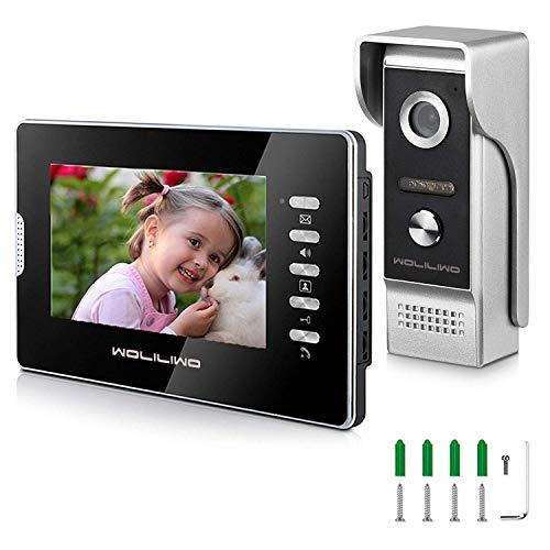 Video Doorbell 7'Inch Wired Video Doorbell Phone System and IR Metal Camera Video Intercom Doorbells Kit for Home Security System 2-way Intercom Night Vision Waterproof