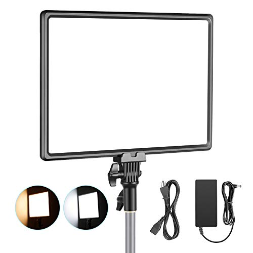 Neewer-Super-Slim-LED-Video-Light-Soft-Lighting-40W-3200K-5600K-CRI95-Dimmable-LED-Panel-with-LCD-Display-Camera-Camcorder-Photo-Light-Compatible-with-Sony-NP-F-Series-Battery-Battery-Not-Included