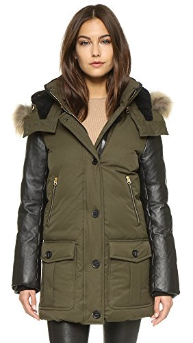 810 V4HJ6ML Weather Rating: -35°C/-31°F Removable Natural Asiatic Raccoon Fur Hood Trim Dyed Sheepskin Hood Lining