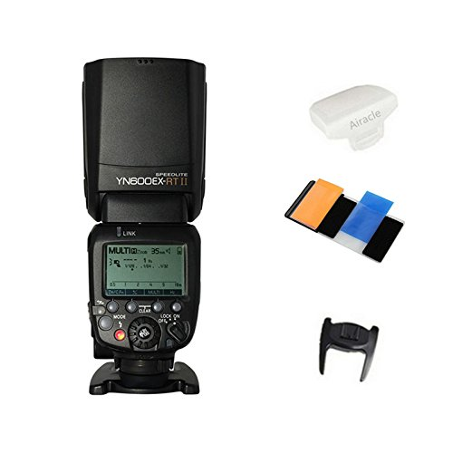 Yongnuo YN600EX-RT Flash Speedlite for YN-E3-RT, Canon's 600EX-RT/ST-E3-RT Wireless Signal Camera, LCD Display, USB Firmware Upgrade, 1/8000sec Sync Speed with Color Gel Filters & Diffuser