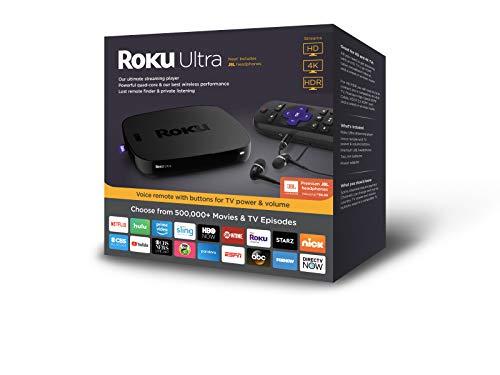 Roku Ultra   HD/4K/HDR Streaming Media Player.Now includesPremium JBL Headphones. (2018)