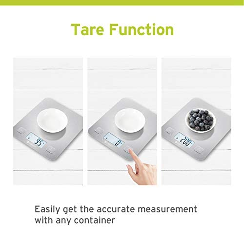 Etekcity Food Kitchen Scale, Digital Grams and Oz for Cooking, Baking, and Weight Loss, Christmas Gift for Holiday Meal Prep, Large, Stainless Steel 4
