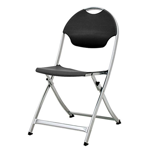 SwiftSet Folding Chair, Black, Silver Legs, Arrives Fully Assembled
