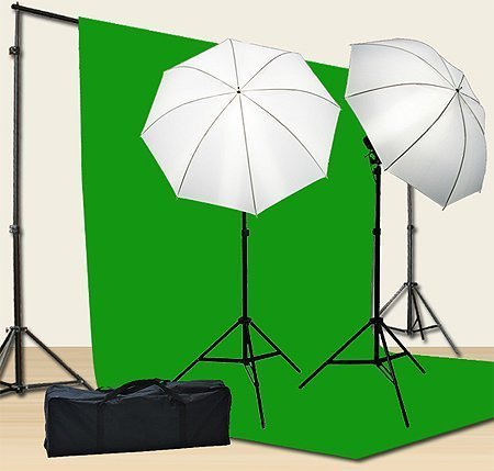 Chromakey Green Screen Kit 800w Photo Video Lighting Kit 10×12 feet Green Screen and Backdrop Support System Included Ul15 10×12 Green By Fancier U15 10×12 Green