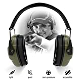ucho Shooting Earmuff Safety Ear Protection - NRR 34dB Shooting Ear Protection Noise Reduction Headphones for Adults & Kids Ear Protection for Shooting Hearing