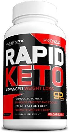 Rapid Keto Diet Pills | Advanced Ketogenic Diet Weight Loss Supplement | BHB Salts Exogenous Ketones Capsules for Men & Women | Fast & Effective Ketosis Diet Fat Burner | Instant Keto Boost | 60 3