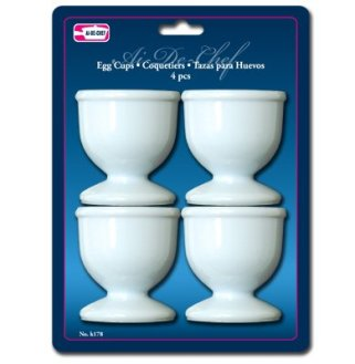 1-X-Egg-Cups-Set-4-PC-Poached-Hard-Boiled-Breakfast-White-Save-Kitchen-Hot-Food-New