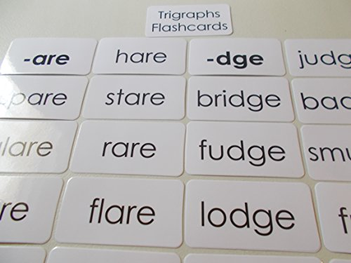 95 laminated Trigraph Word Flashcards.