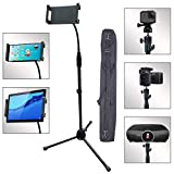 360° Camera Tripod Projector Floor Stand Portable Lightweight Protopro Steel Pole Adjustable Height 28' to 68' Phone Selfie Holder 360° Swivel Ball Head for Camera,Tablet etc.(2019 Version) -Black