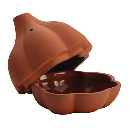 Rachael Ray 54277 Cucina Stoneware Garlic Roaster, 4.5-Inch, Terra Cotta
