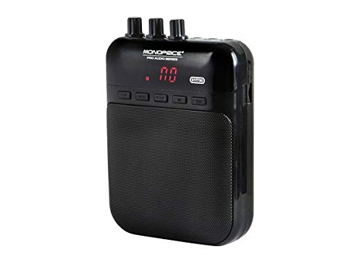 Monoprice 5-Watt Mono Guitar Amplifier/Portable Recorder - Black With USB Audio Interface, 4-ohm speaker, Guitar Distortion Effects And Micro SD Card Slot