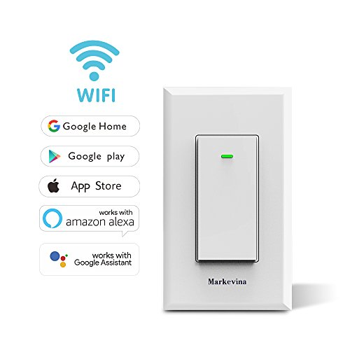 smart wifi light switch app control from anywhere compatible with