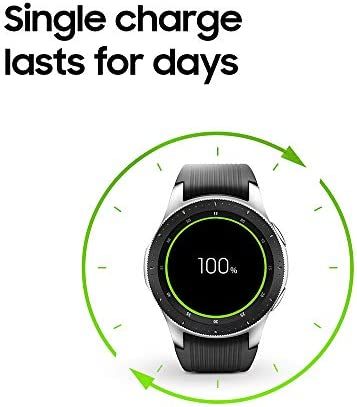 Samsung Galaxy Watch smartwatch (46mm, GPS, Bluetooth) – Silver/Black (US Version with Warranty) 10